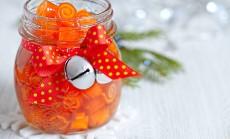 cukruotos apelsinų žievelės