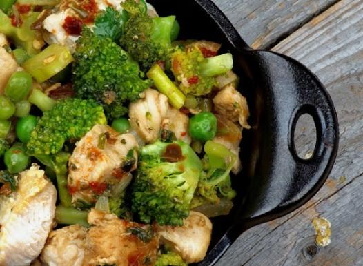 brokolių troškinys