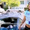 Sudegintas Europos čempionės Kristinos Narbutaitytės automobilis