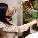 Renata Mikailionytė Kalėdoms namus puošia tuo, ką randa gamtoje