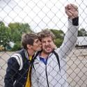 Aktoriai Š. Banevičius ir J. Gricius prabangų automobilį papuošė išskirtiniais numeriais