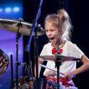"""""""Lietuvos talentus"""" pakerėjusi 9-erių būgnininkė Fausta: Be juodo darbo nieko nebūtų"""