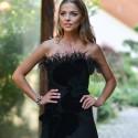 """""""2 Barai"""" vedėja V. Skaisgirė akį traukė apsirengusi dizainerės A. Kuzmickaitės suknelę"""