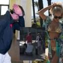 Paviešintas slaptas O. Pikul vaizdo įrašas iš jos atostogų Kipre