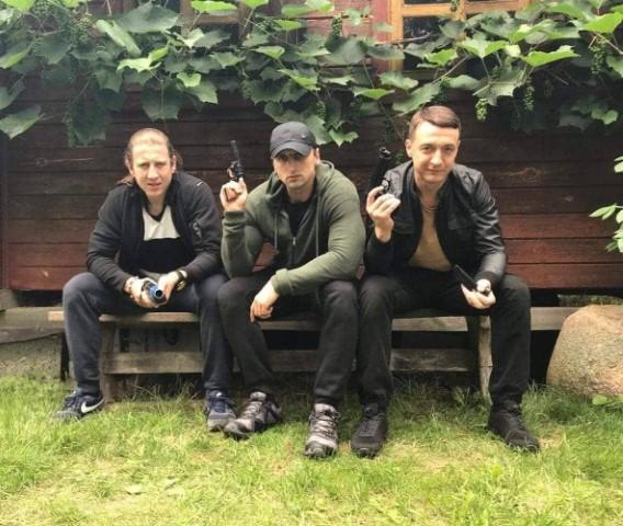 RR_Justinas Barkus su M. Repsiu ir J. Baliukevic_filmavimo uzkulisiai (Small)