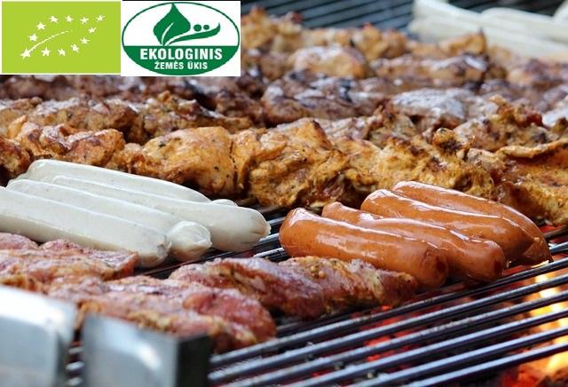 mėsa su eko ženklais