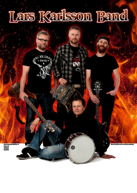 Lars Karlsson Band poster flames (Small)