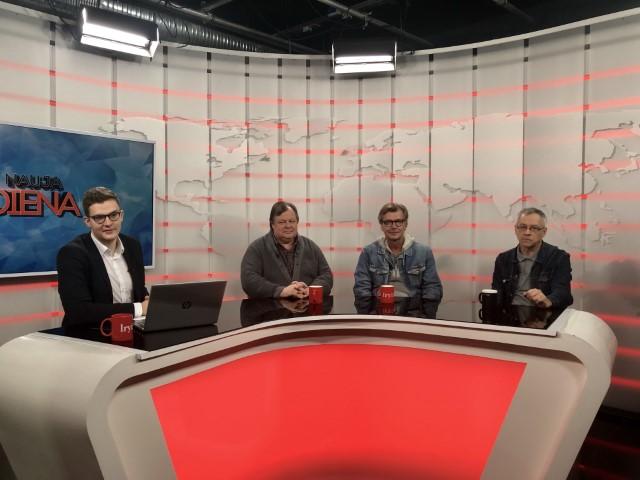 LR_TV_Naujos dienos studijoje serialo Prokurorai aktoriai ir kurejai