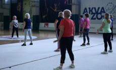 Joana Bartaškienė sportuoja