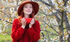 moteris ir pavasario magija