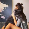 Dainininkės Justės Kraujelytės lovoje karaliauja katinas