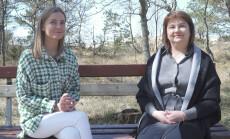 Justė Zinkevičiūtė su mama Rita