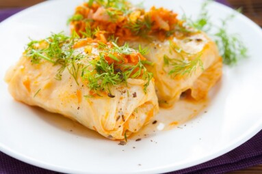 cabbage rolls cabbage with carrots and rice